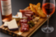 cheese and charcuterie board wine