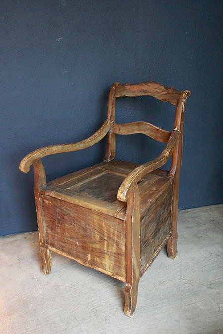 Wooden Box Chair | 木製箱形チェア 1301-025