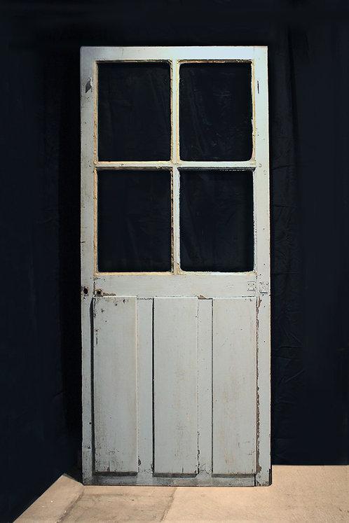 Wooden Door (Sky Blue) |  アンティークドア 190129