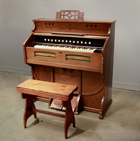 Vintage Wooden Read Organ  |  ヴィンテージ木製オルガン 1301-049