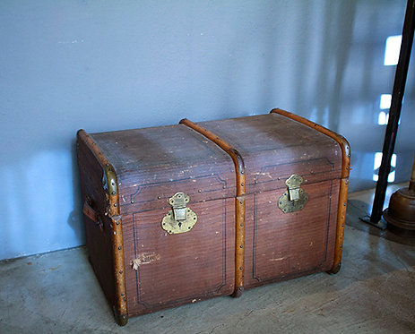 Antique Trunk_(Brown)  |  アンティーク トランク 1301-065