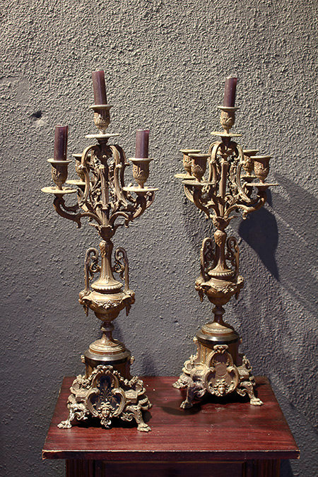 Table Candle Holder (pair)  |  燭台(ペア)1301-100