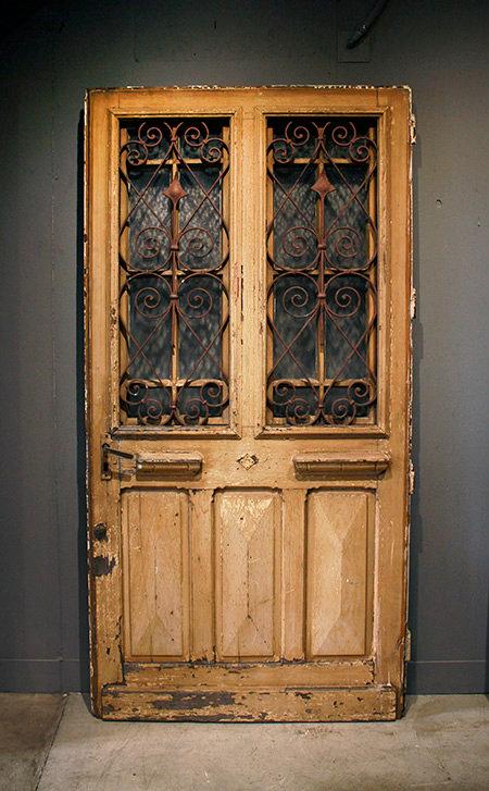 Antique French Iron Door  |  アンティークフレンチアイアンドア 17009
