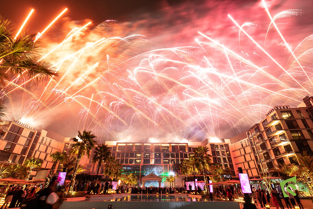 Fire Works at the Hell's Kitchen Dubai Grand Opening