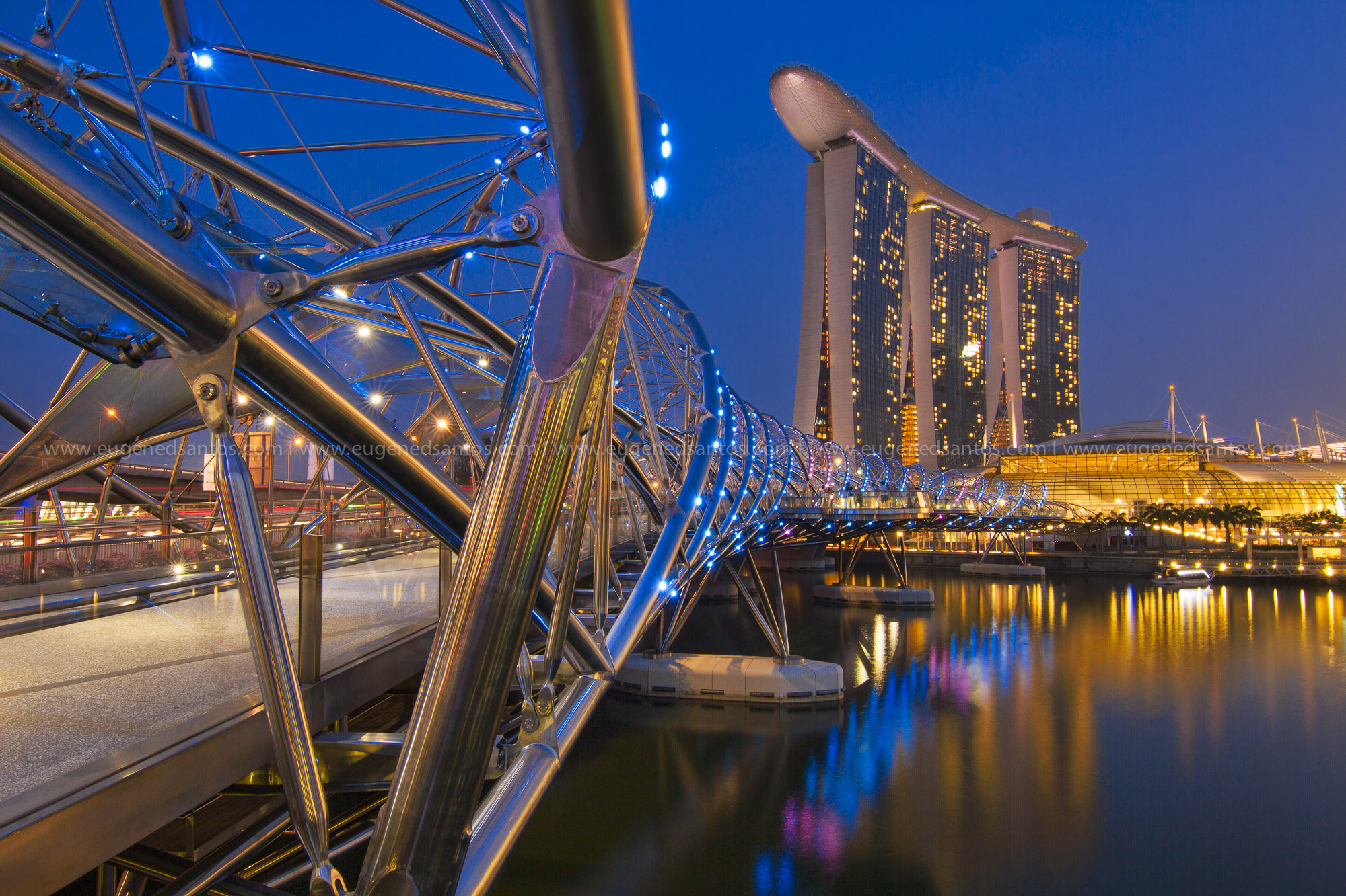 Helix Bridge at Marina Bay Sands