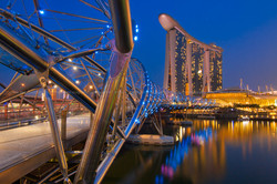 Helix Bridge at Marina Bay Sands