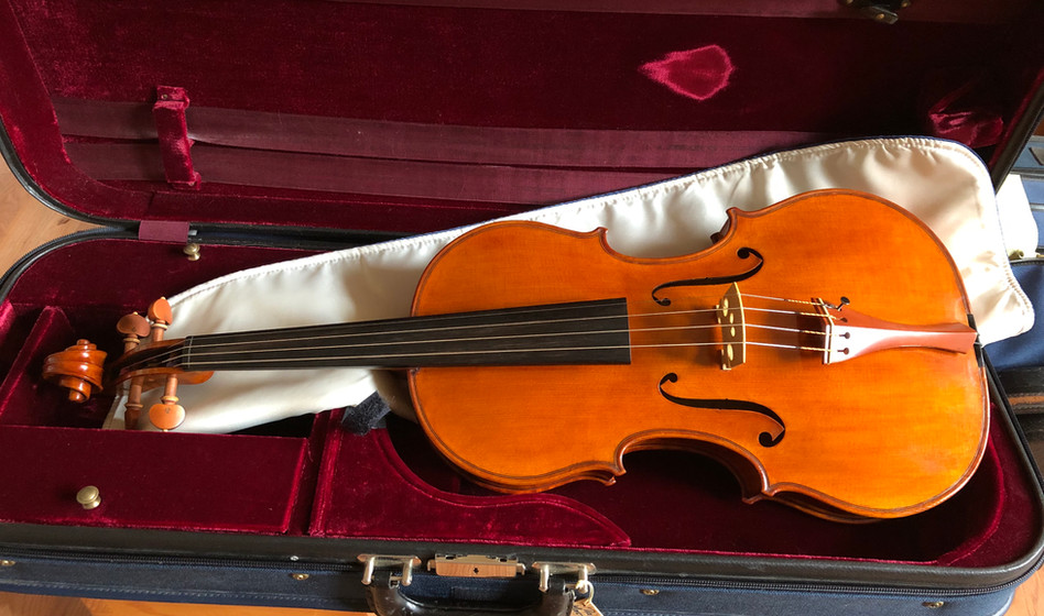 Finished viola set up ready to play and on it's way home with a happy client.