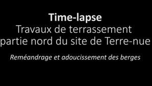 Time-lapse : évolution des travaux sur la partie nord de l'ancien canal