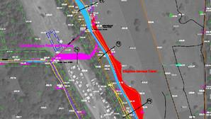 Les principes du projet de renaturation du canal en cartes