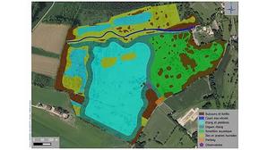Projet de création d'un étang et de ses milieux humides associés