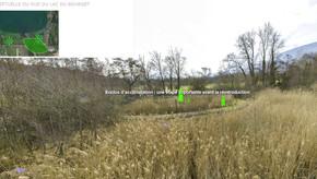 Visite virtuelle de la rive sud du lac du Bourget