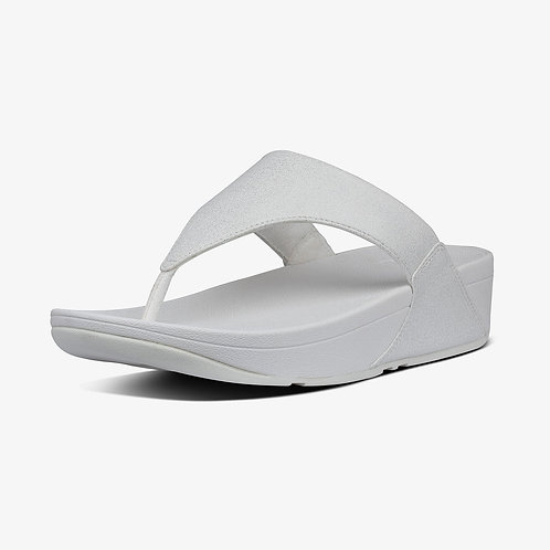 FITFLOP SLIPPER WIT METALLISE