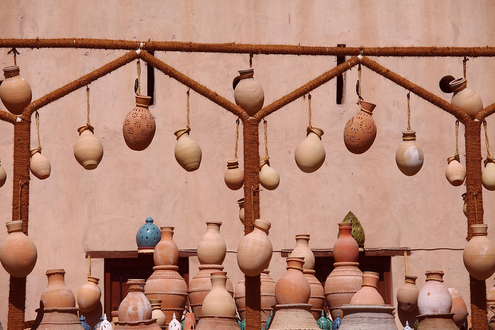 market of clay pots