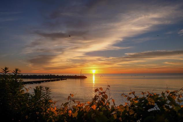 Lake Michigan, Evanston, 5am