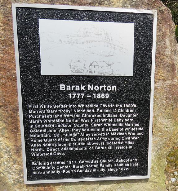 Barak Norton plaque