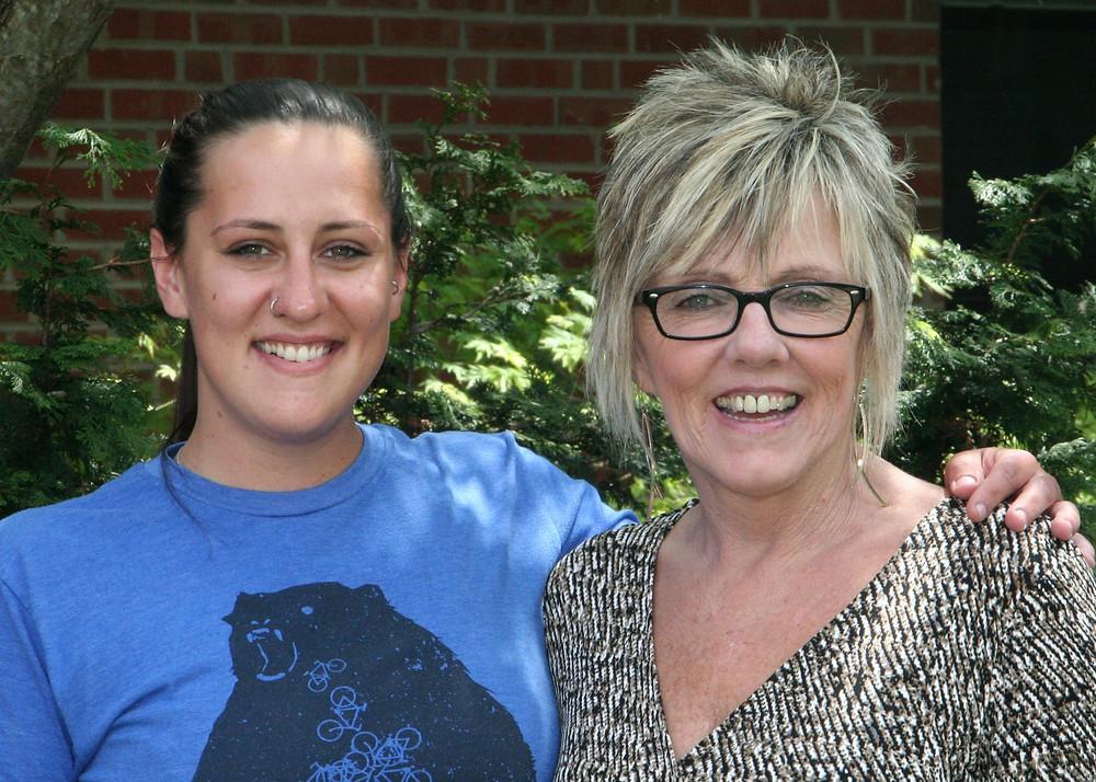 Rhiannon Barnes and Glenda McCarson of Blue Ridge Community College
