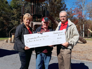 John Peil of JP Roofing Solutions Presents Check to CFSSP