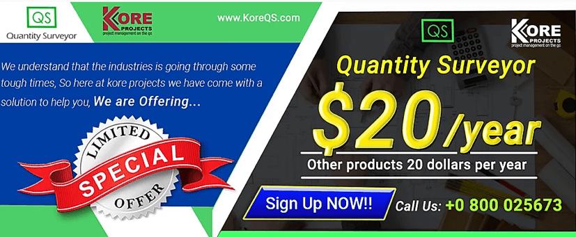 quantity surveyor app cost