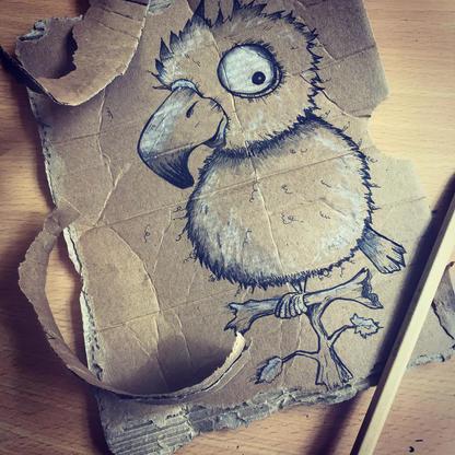 Cardboard Parrot