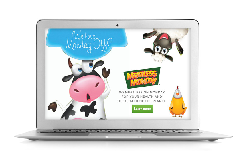 Meatless Monday Digital Ad