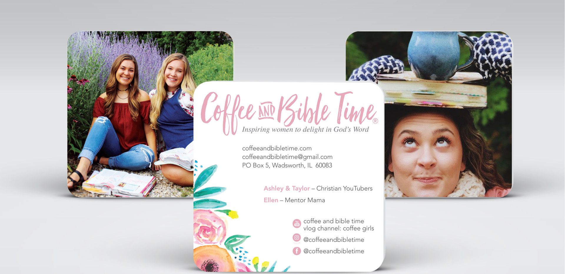 Coffee and Bible Time Business Cards