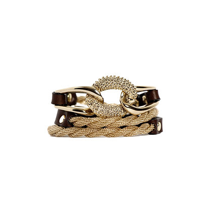 EQUESTRIAN TRIPLE WRAP - BLOND GOLD - CHOCOLATE