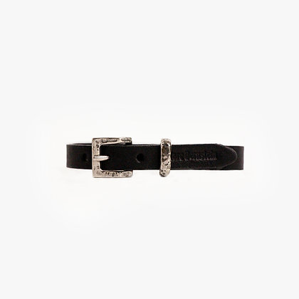 'ALL LEATHER' - ANTIQUE SILVER - BLACK