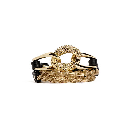 'EQUESTRIAN' TRIPLE WRAP - BLOND GOLD - BLACK