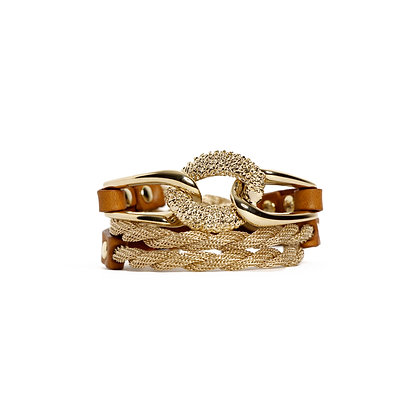 'EQUESTRIAN' TRIPLE WRAP - BLOND GOLD - CAMEL