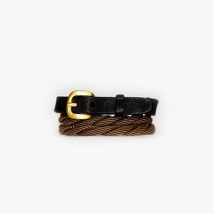 ROPE TRIPLE WRAP - ANTIQUE GOLD - BLACK