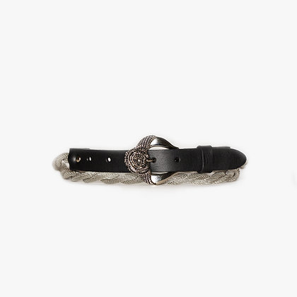 'ROSE BUCKLE' ROPE BELT