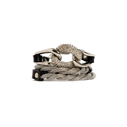 'EQUESTRIAN' TRIPLE WRAP - SILVER BLACK