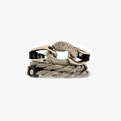 'EQUESTRIAN' TRIPLE WRAP - SILVER - BLACK