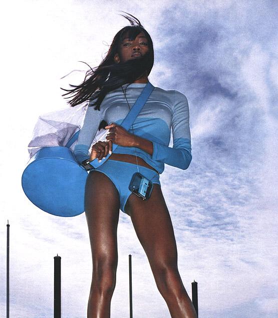 Oluchi Onweagba photographed by Raymond Meier, Vogue Magazine May 2000