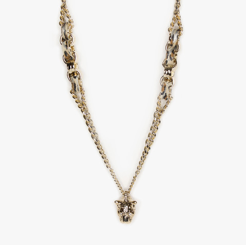 'JAGUAR AND HAMMERED LINKS' NECKLACE