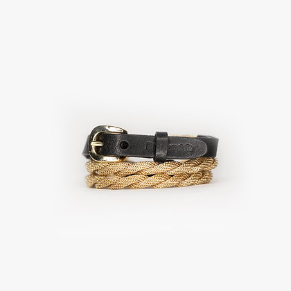 ROPE TRIPLE WRAP - BLOND GOLD - BLACK