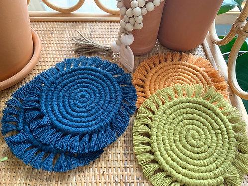 Macramé Coaster Set