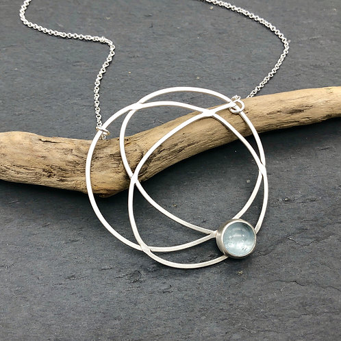 Aquamarine Chaos Necklace