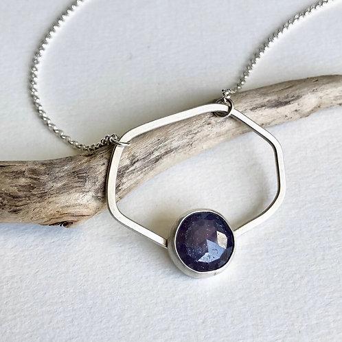 Purple  Sapphire Freeform Necklace