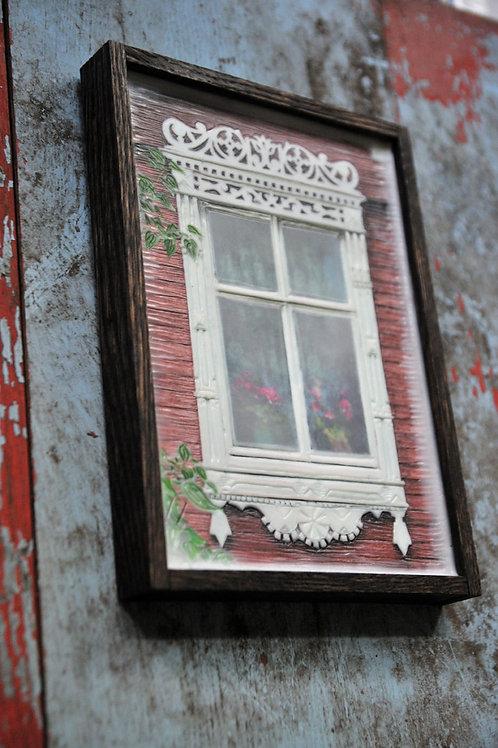 Russian Window - pink flowers