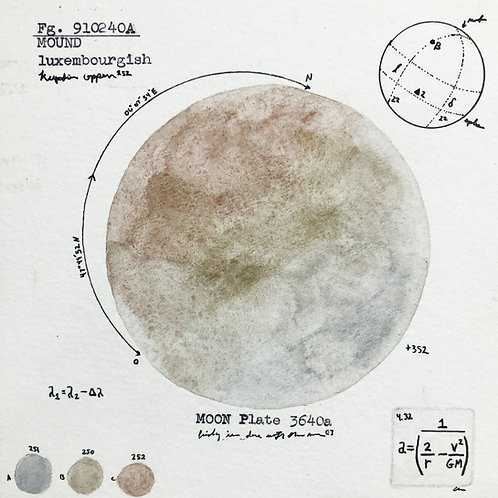Moon Plate 3640a
