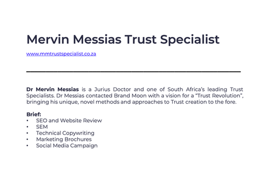 Mervin Messias Trust Specialist