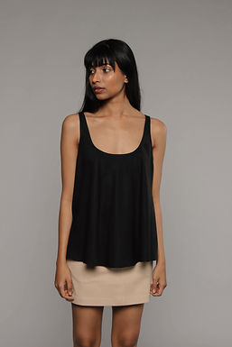 Black Free Rein Flared Top