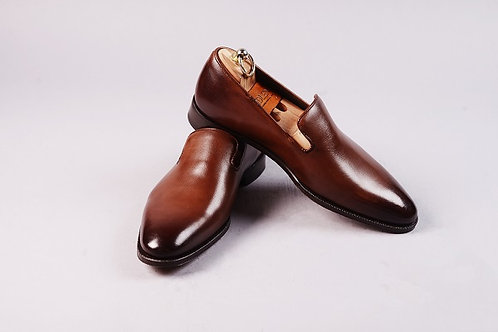 Brown Wholecut Loafers