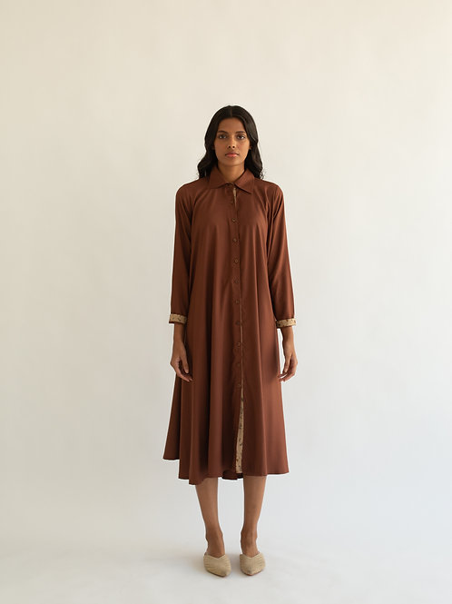 Tan Crescent Dress