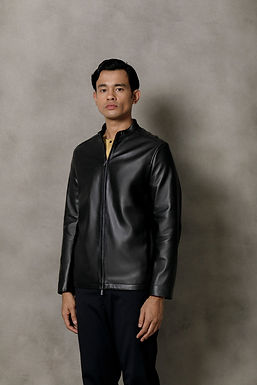 Black Taichi Leather Jacket