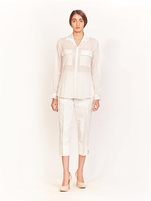 White Basic Trouser