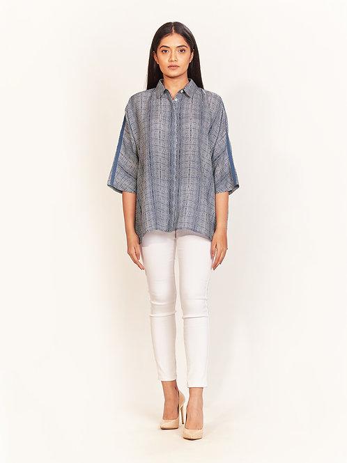 Badami Indigo Linen Shirt