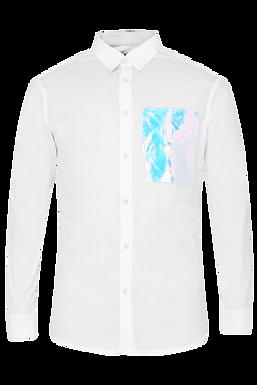White Patchwork Shirt