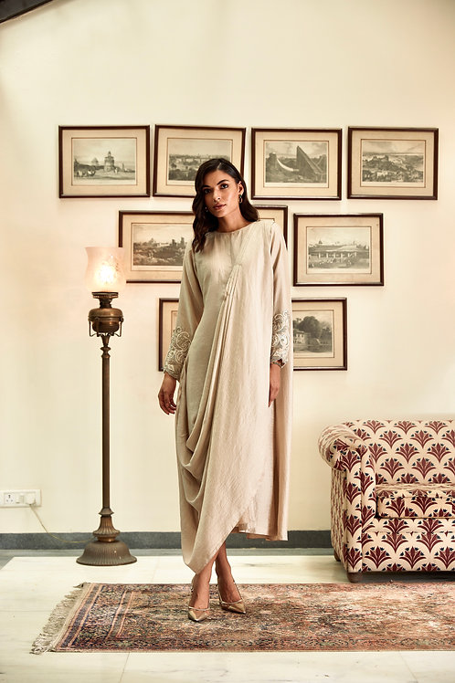 Ivory Saree Tunic